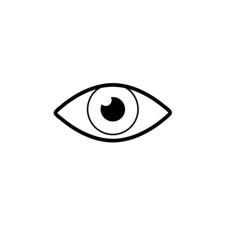 Simple eye icon, sign or logo Vettoriali