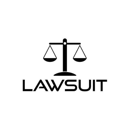 Lawsuit icon, Justice scale sign, Law 向量圖像