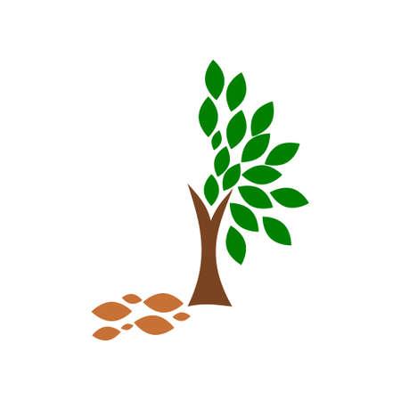 Dead tree icon, Tree sign Ilustrace