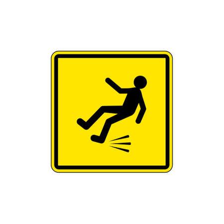 Slippery floor, Wet Floor Sign