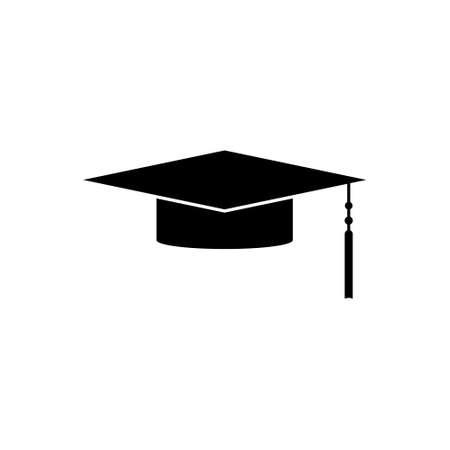 Graduation Cap Silhouette, Graduate cap icon  イラスト・ベクター素材