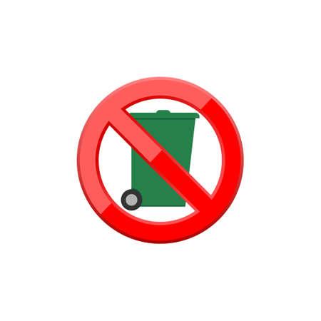 No trash can vector icon