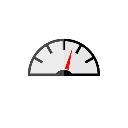 Color speedometer icon, performance measurement symbol