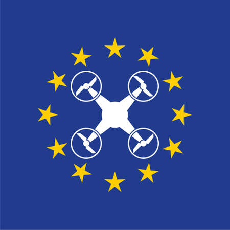 European rules for drone aerial aircraft law, drone concept