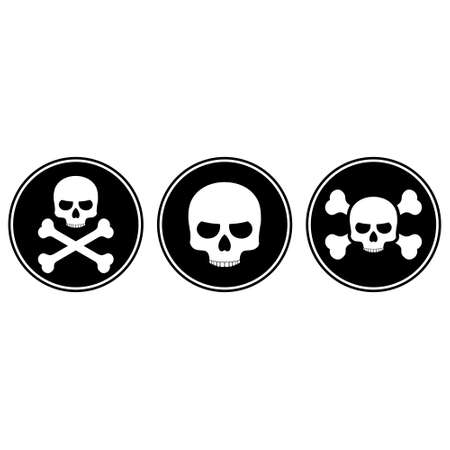 Skull and crossbones icon or button