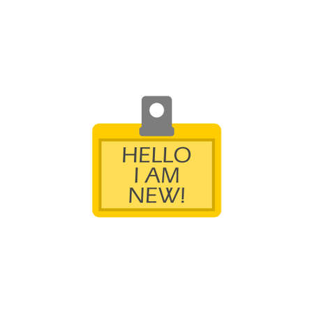 Text sign showing Hello I Am New