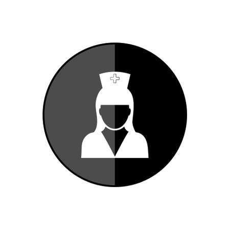 Nurse round black glossy web design icon