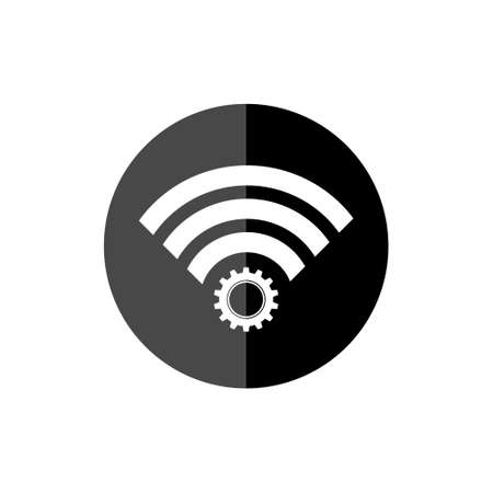 Wifi Wireless Network Symbol, wifi black circle sign