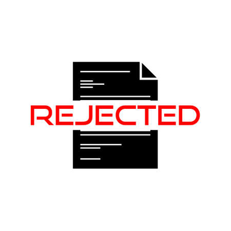 Rejected isolated sign or icon, Agreement or approval concept