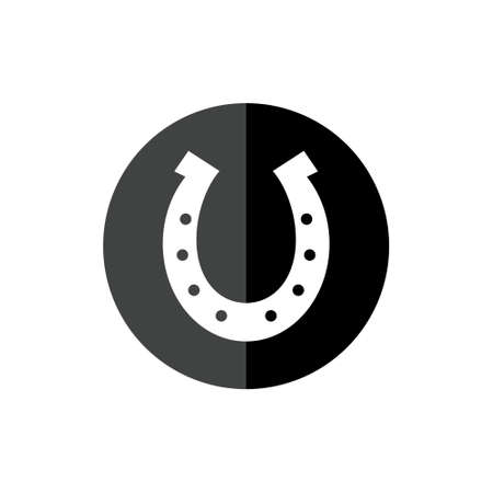 Horseshoe silhouette icon or sign