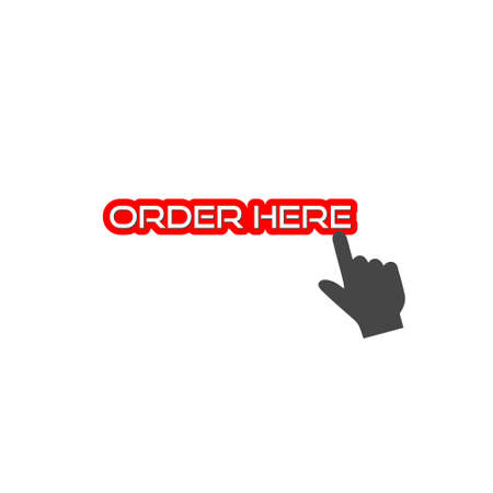 Red order now sign or icon