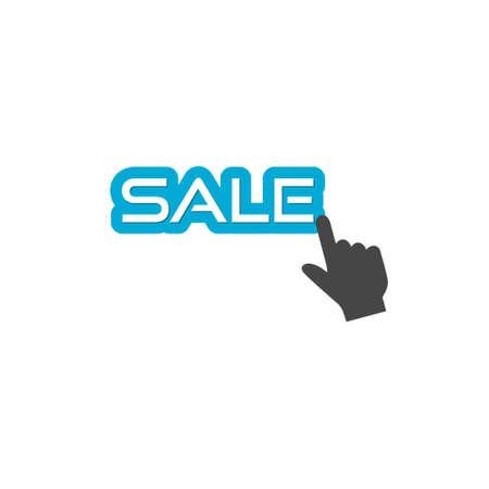 Blue sale labels for business promotion
