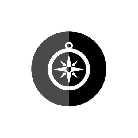 Compass rose or windrose, rose of the winds flat icon
