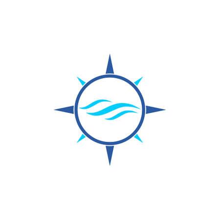 Blue Wave icon or logo Logo
