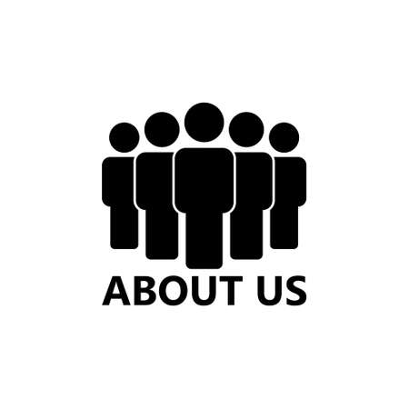ABOUT US icon or sign