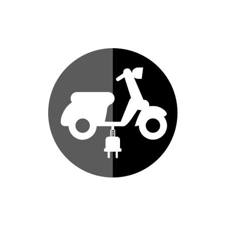 Electric scooter symbol, Scooter icon, electric transport icon on white