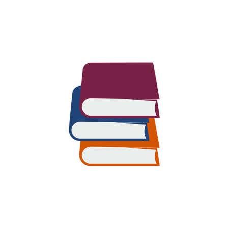 Colorful books icon