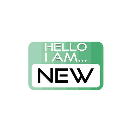 Hello I Am New, New Employee Member Introduction Hello Nametag
