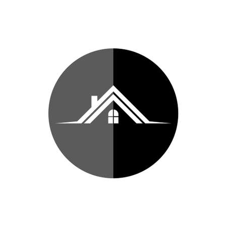 Real estate  , house or home with window, Roof icon
