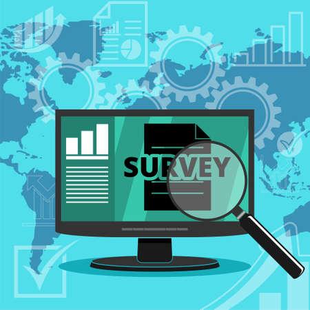 Survey world map banner background, World map, statistics 일러스트