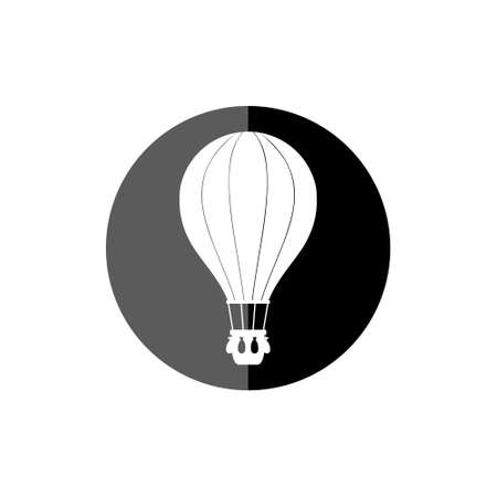 Flat hot air balloon icon or logo