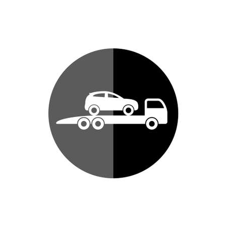 Car tow service, 24 hours icon