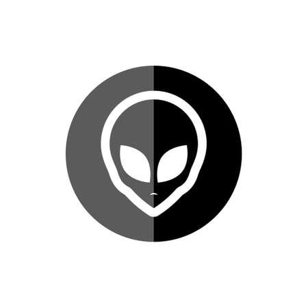 Alien face, Alien head icon 일러스트
