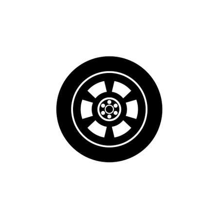 Car wheel abstract icon or logo