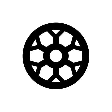 Car wheel abstract icon