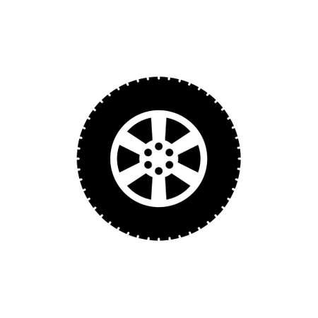 Car wheel abstract icon Illustration