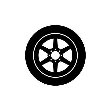 Car wheel abstract icon Vettoriali