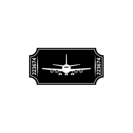 Ticket plane icon, Travel symbol, Flight ticket icon Vettoriali