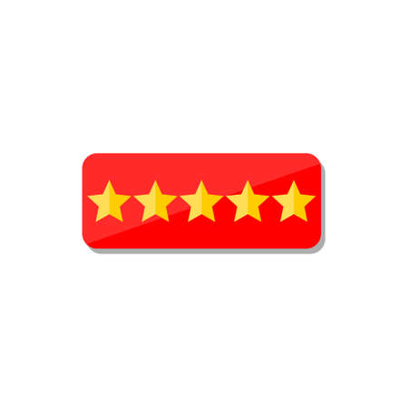 Customer review concept, Rating golden stars