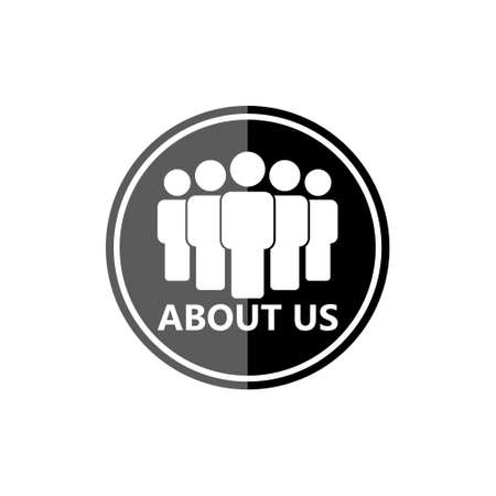 ABOUT US icon or button