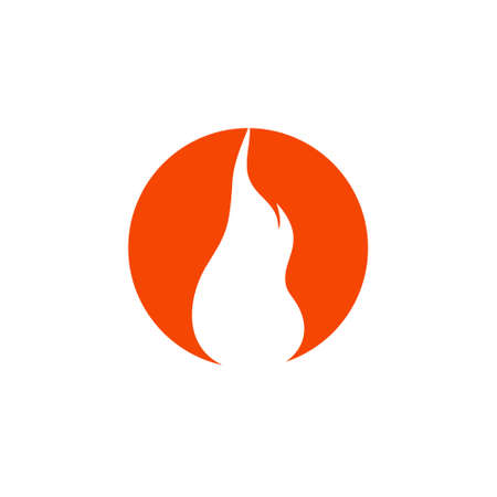 Fire flame Logo Template icon 일러스트