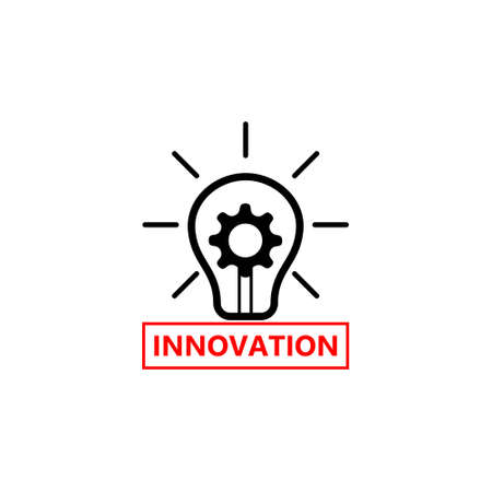 Innovation icon, Light bulb and cog inside 일러스트