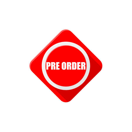 Red Pre order black button 일러스트