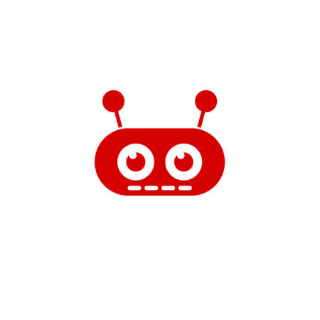 Robot avatar icon or sign 일러스트