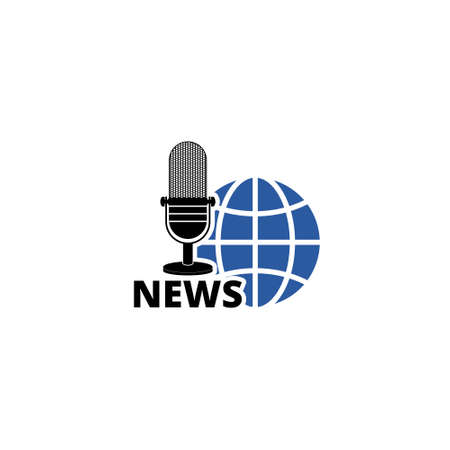 News world - Simple icon, Global news concept icon