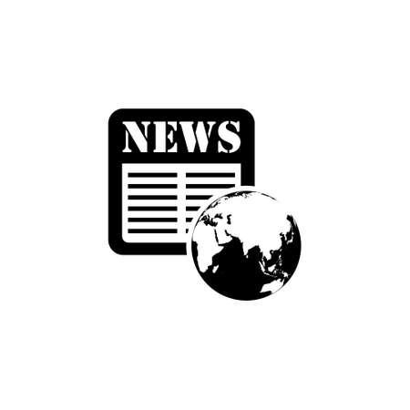 World news logo like newspaper