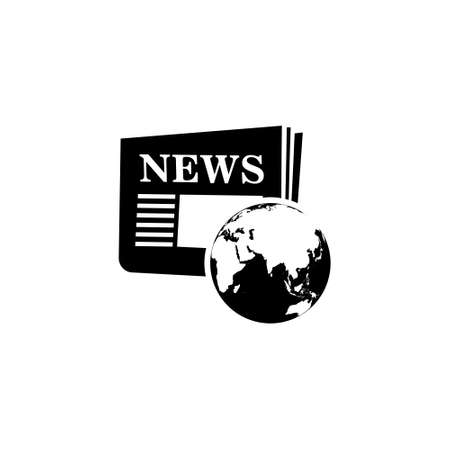 Global news icon, World news logo