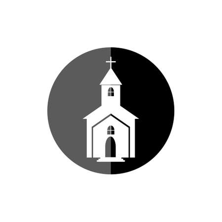 Church icon illustration for web and mobile Çizim