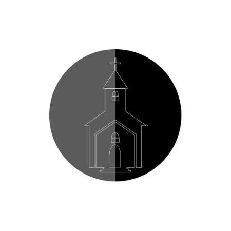 Church icon illustration for web and mobile