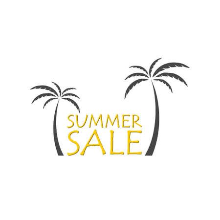Summer sale icon on white background