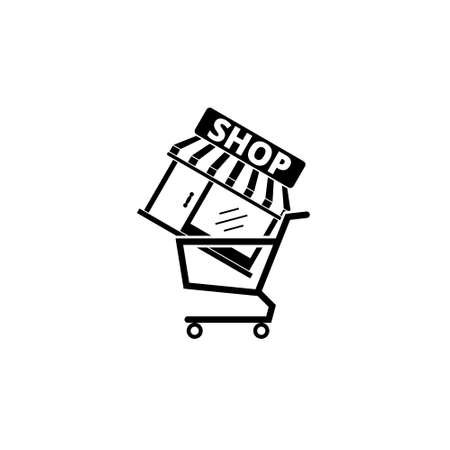 Shopping concept icon, online shopping concept 向量圖像