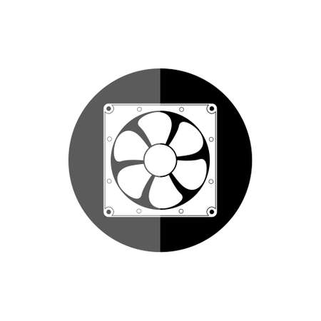 Exhaust fan icon isolated of flat style