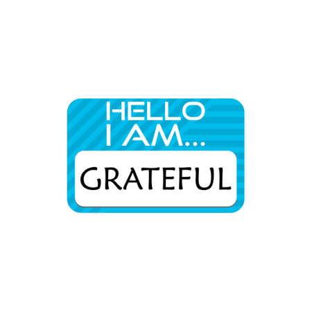 Hello I Am Grateful Word sign