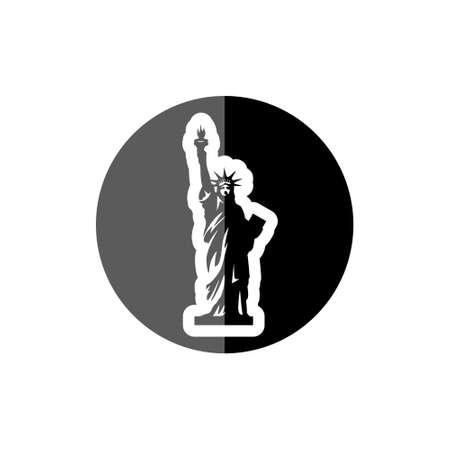 Statue of Liberty icon, sign 矢量图像