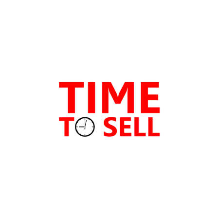 Clock dial Time to sell icon or logo Logo