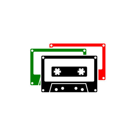 Tape cassette icon or logo